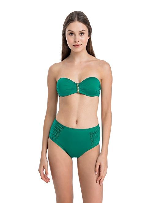Dagi Straplez Kaplı Bikini Takım Yeşil